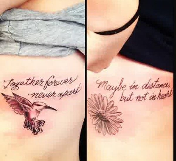 Matching tattoos for best friends girls quotes