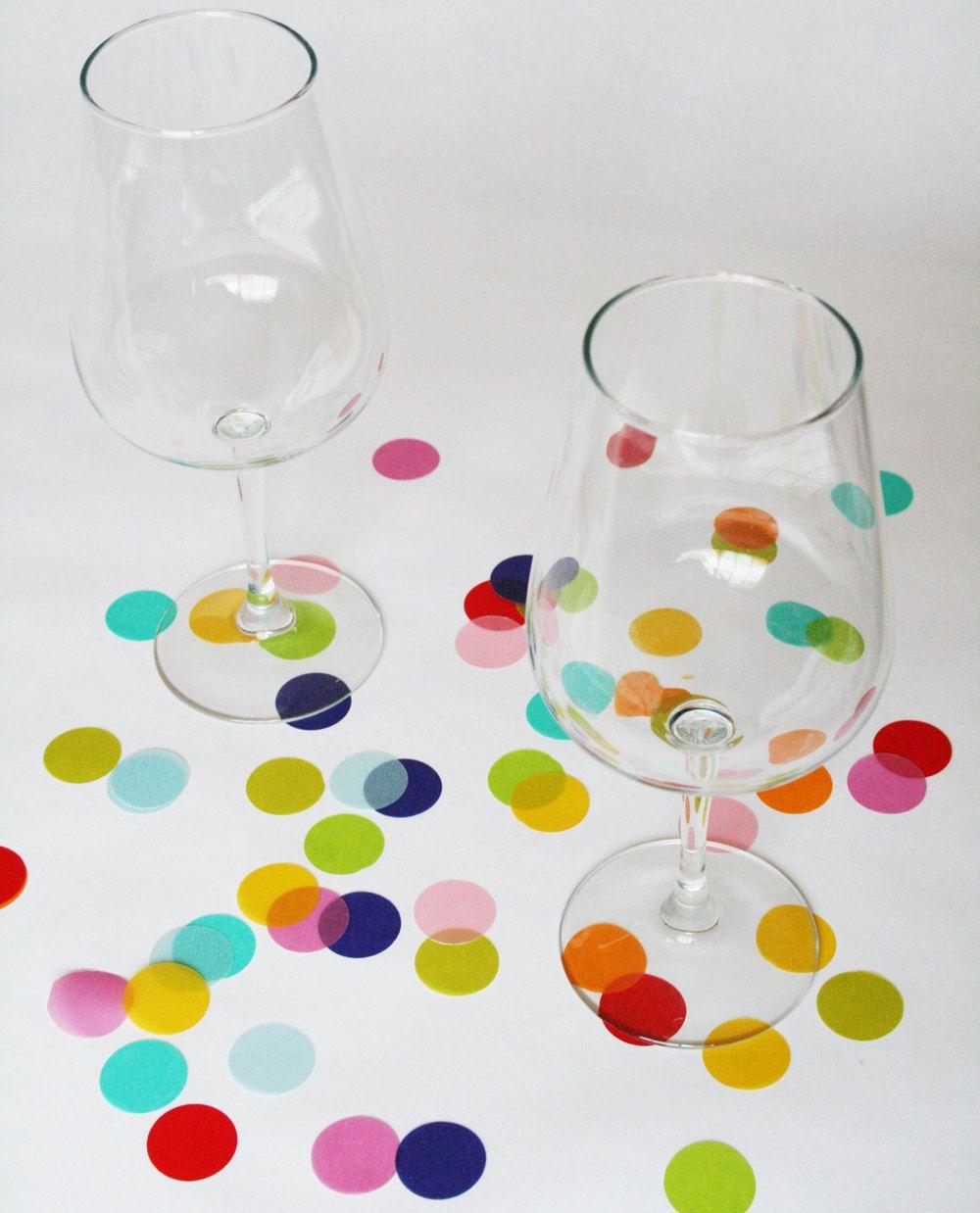 Confetti Dots beautiful translucent large by NikkiCrossApplesauce, $5.00