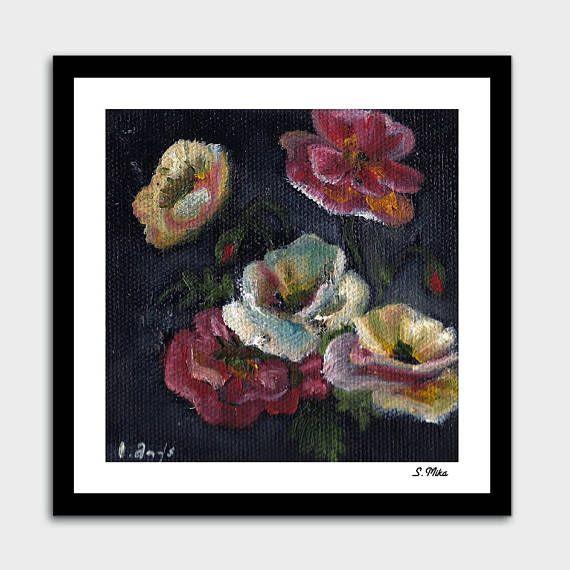 Original Oil Painting. Still life. Wild Flowers. Floral