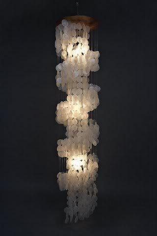 Large rectangle capiz shell chandelier free shipping 17 diameter exomod on artfire capiz shell chandeliershell mozeypictures Gallery