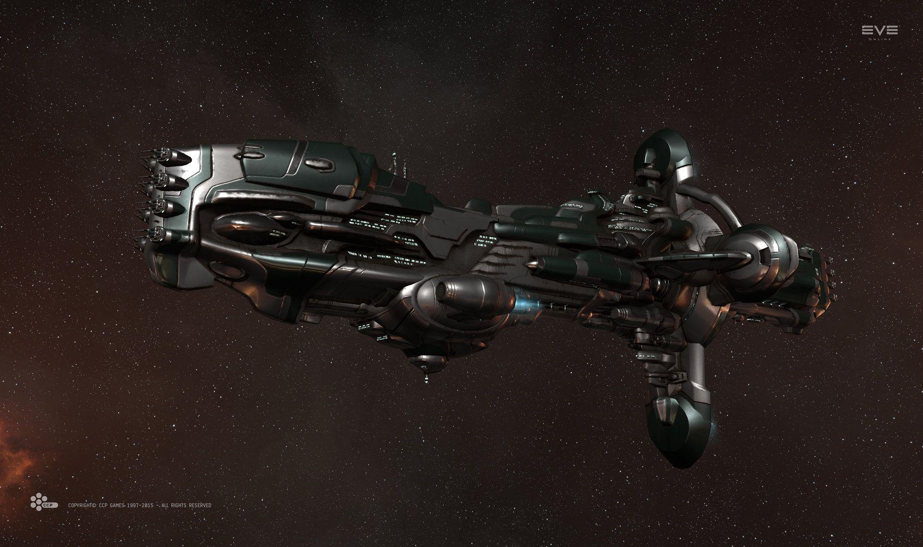 재질_스페큘러 참고 ArtStation - Gallente Hyperion Battleship (2), Willem van Biljon