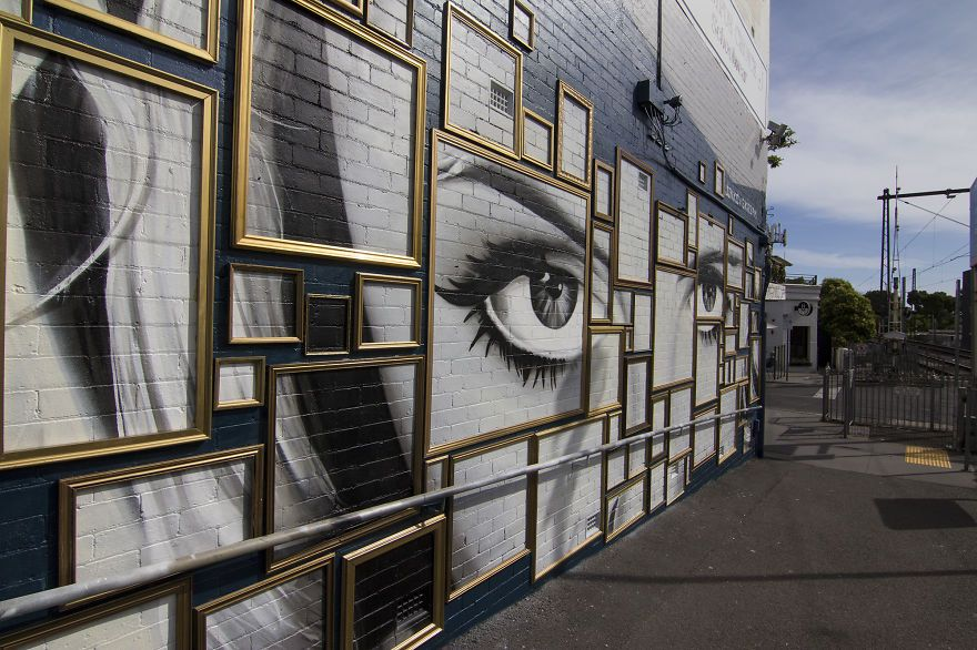 We Created A Mural Out Of Frames In Melbourne | Melbourne, Bored ...