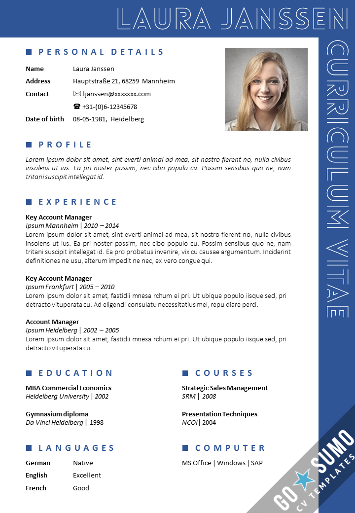 cv template in word and powerpoint  fully editable  2 color versions in 1   matching cover