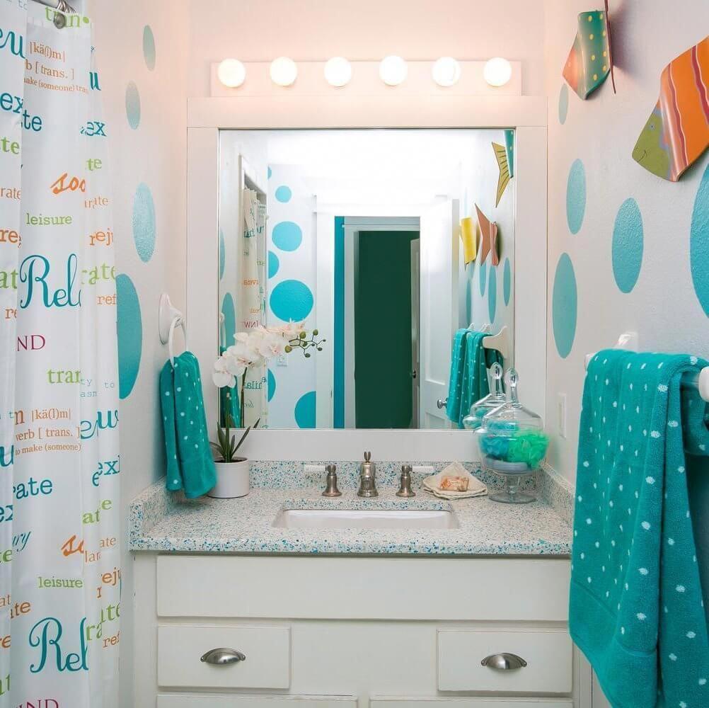 Colorful Bathrooms Coastal Bathroom Decor Beach Cottage Style