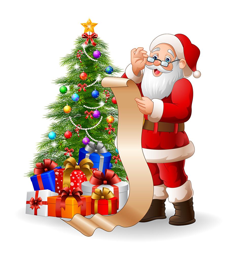Photos Christmas Santa Claus Christmas Tree Present Balls Uniform Santa Claus Christmas Tree Christmas Photos Christmas Tree With Presents