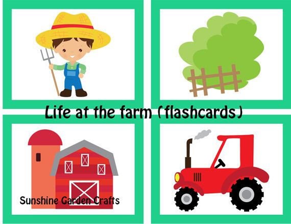 Life at the farm Small Flashcards PDF by SunshineGardenCrafts