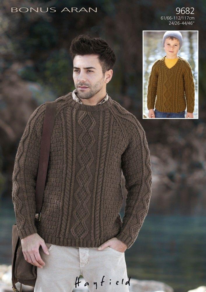 a3c322ddefa3 Boys   Mens Sweaters in Hayfield Bonus Aran