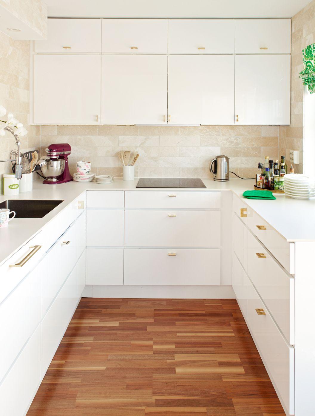 Love It White Modern Kitchen Cabinets And Gold Brass Modern
