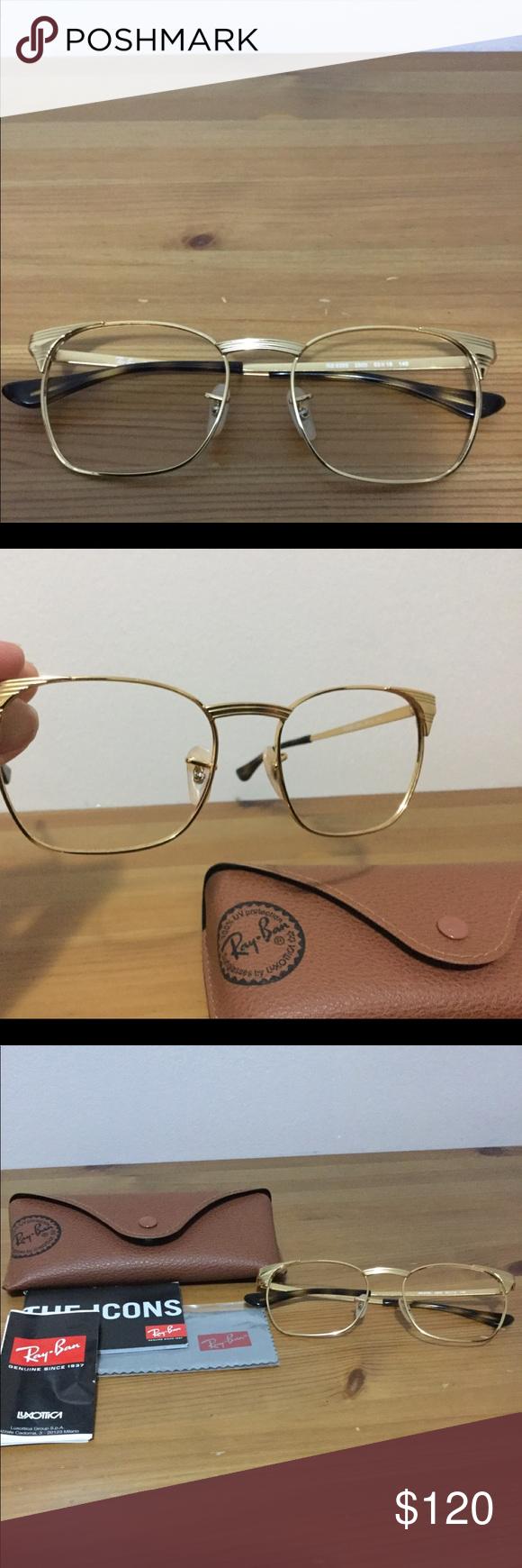 a2486a8fc9310 Ray-Ban Optic Club Master Glasses Ray Ban Signet Optic Club Master Glasses  in metal