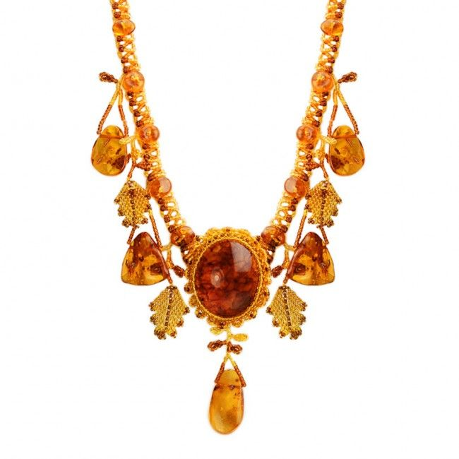 russian amber jewelry | Russian Baltic Amber Necklace - Necklaces ...