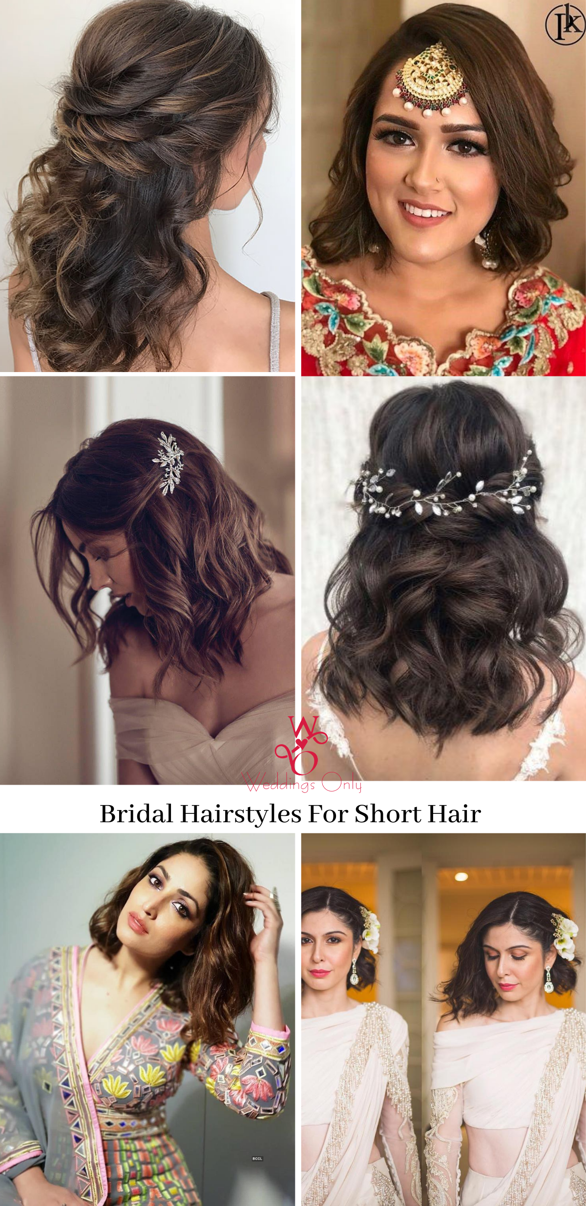Trending Bridal Hairstyle For Short Hair Bridal Hairstyle Bridal Inspiration Indian Wedding In 2020 Short Hair Outfits Hair Styles Short Wedding Hair