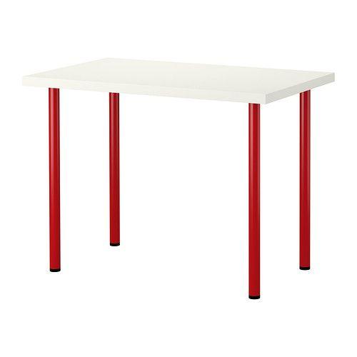 Vika Amon Adils Table White Red Ikea