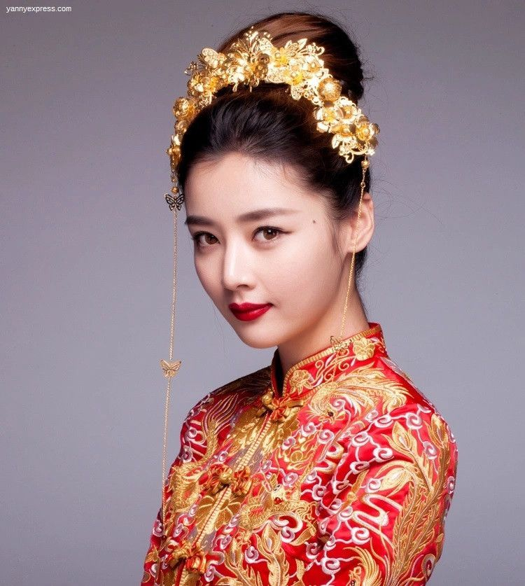Asian Wedding Hairstyle: Chinese Wedding Hairpiece For Qun Kwa