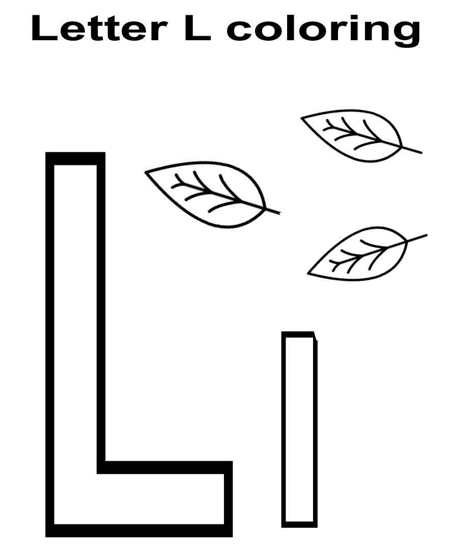 Letter L Worksheet Letter L Worksheets Kindergarten Coloring Pages Letter L [ 1100 x 886 Pixel ]