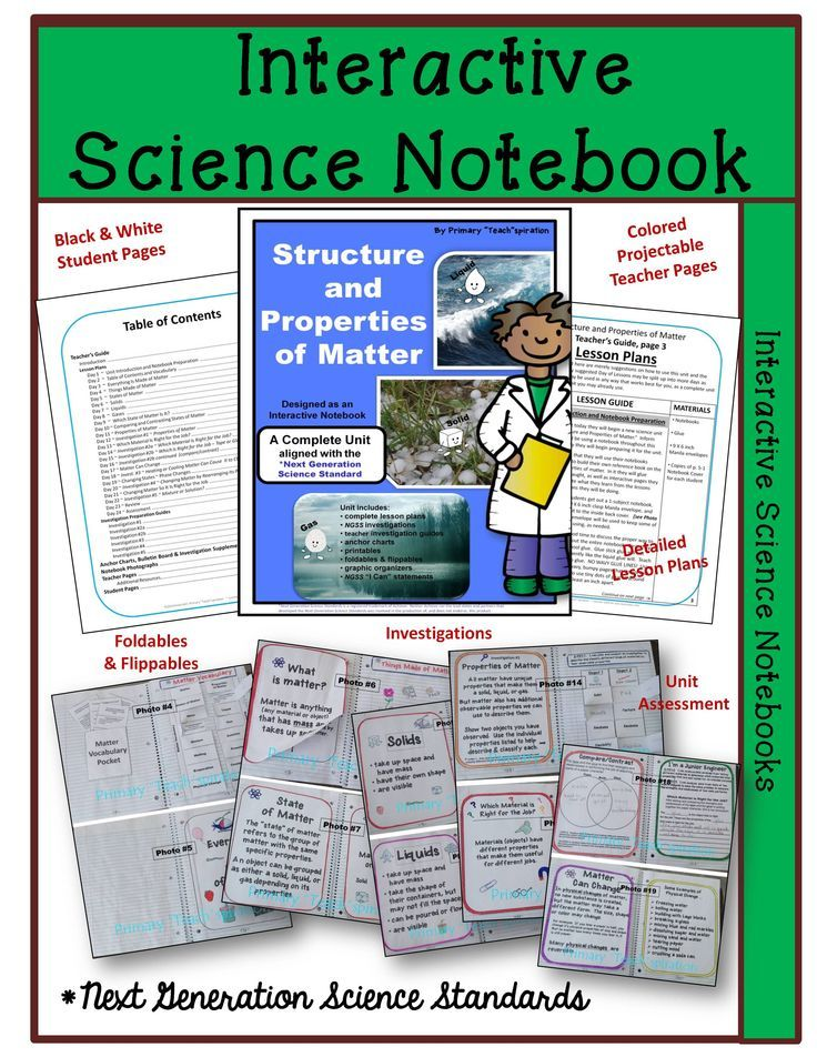 Structure & Properties of Matter Interactive Notebook