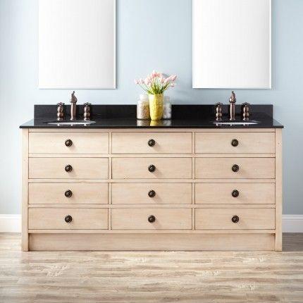 72 Thornwood Double Vanity For Undermount Sink Antique White