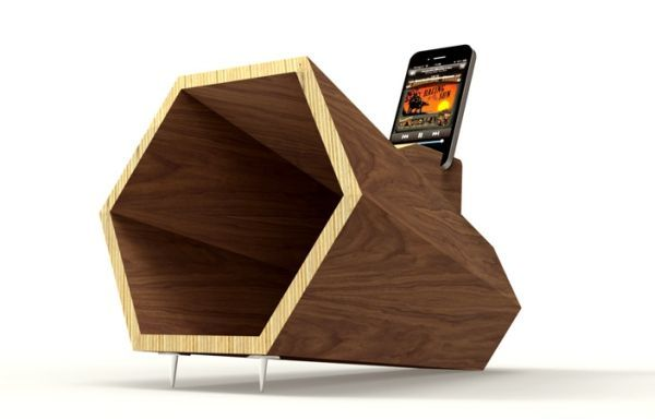 25 Diy Bunk Beds With Plans: Hexaphone IPhone Amplifier: Simple And Ergonomic Wooden