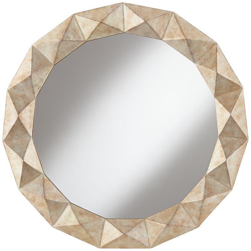 Kendale Modern Champagne Raised Diamond Wall Mirror - #EU2R921 - Euro Style Lighting