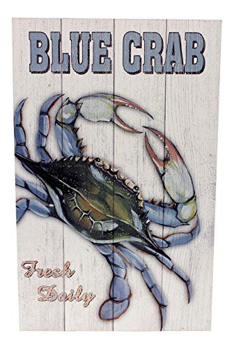 Blue Crab Fresh Daily Printed Wood Sign Wall Decor 15.75 ... https://www.amazon.com/dp/B000YQ9IXA/ref=cm_sw_r_pi_dp_x_-IIbyb78G377K