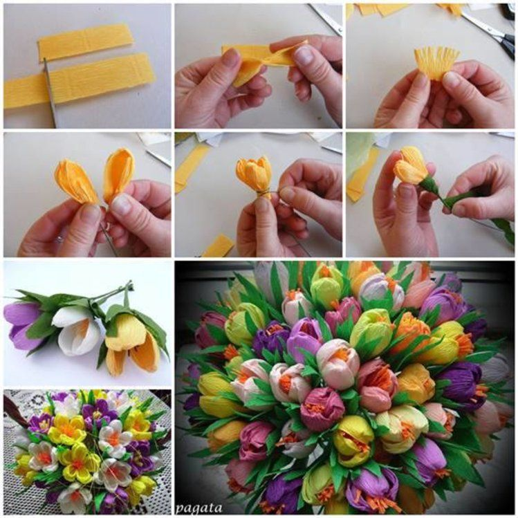 Bukiet Z Papieru Kwiaty Paper Flower Tutorial Tissue Paper Flowers Paper Flowers Diy