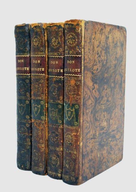don quixote book | Books Don Quixote 1792 Set 4 Vol Adventure : Lot 10395