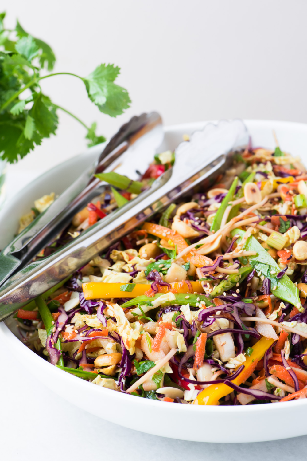 Asian and slaw and recipe and peanut
