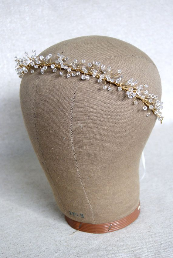 Bridal crown Crystal Baby's Breath Crown от MelindaRoseDesign