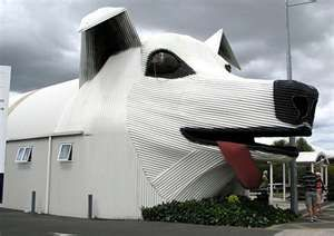 below yup there s another building shaped like a dog