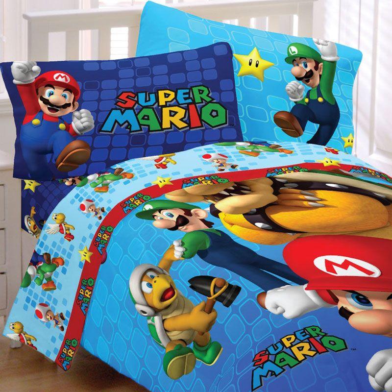Super Mario Brothers Bedding Set, Mario Bed Sheets Queen