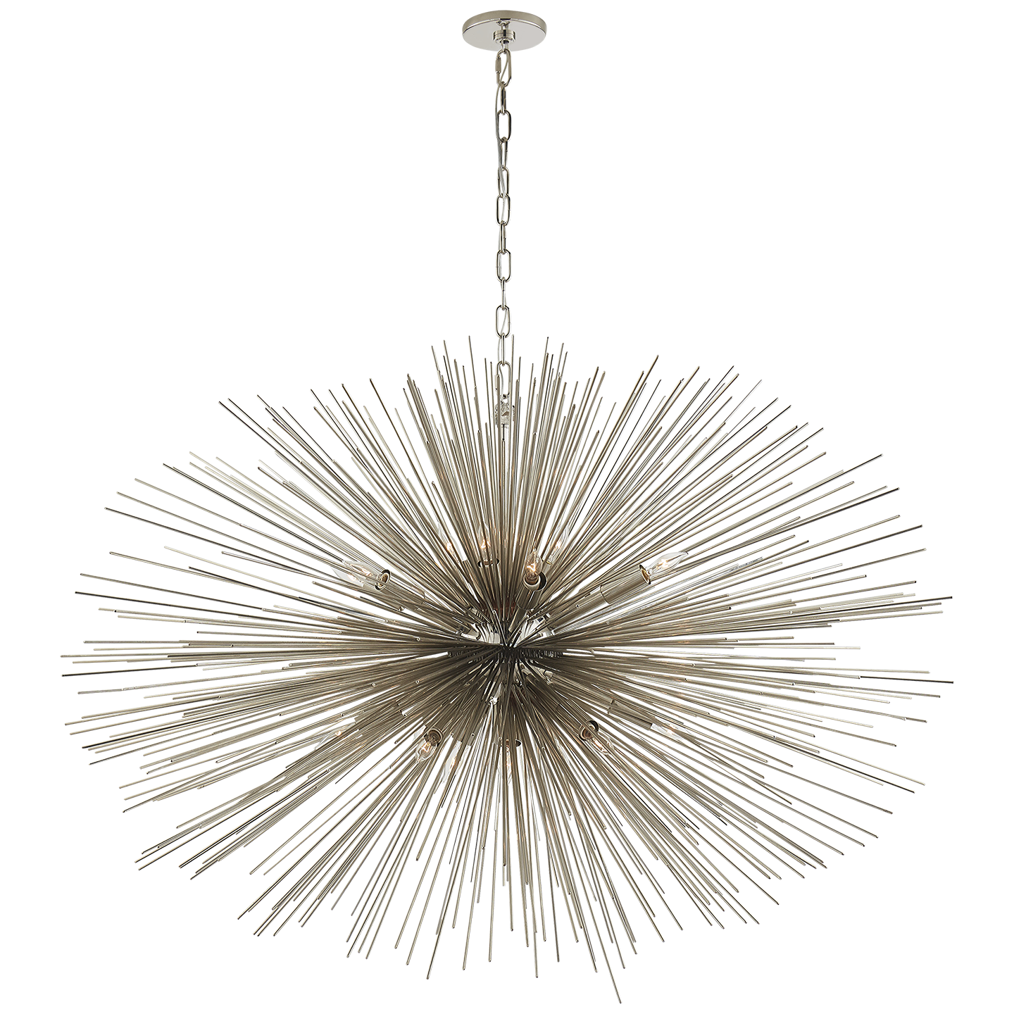 Strada Oval Chandelier in Gild
