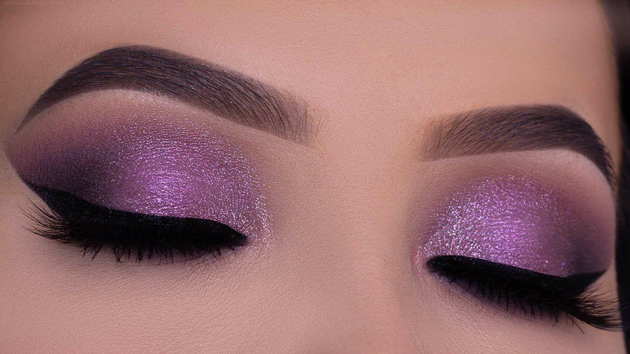 Purple Eye Makeup Tutorial Haus Laboratories Lady Gaga Purple Eye Makeup Tutorial Purple Eye Makeup Purple Makeup Looks [ 720 x 1280 Pixel ]