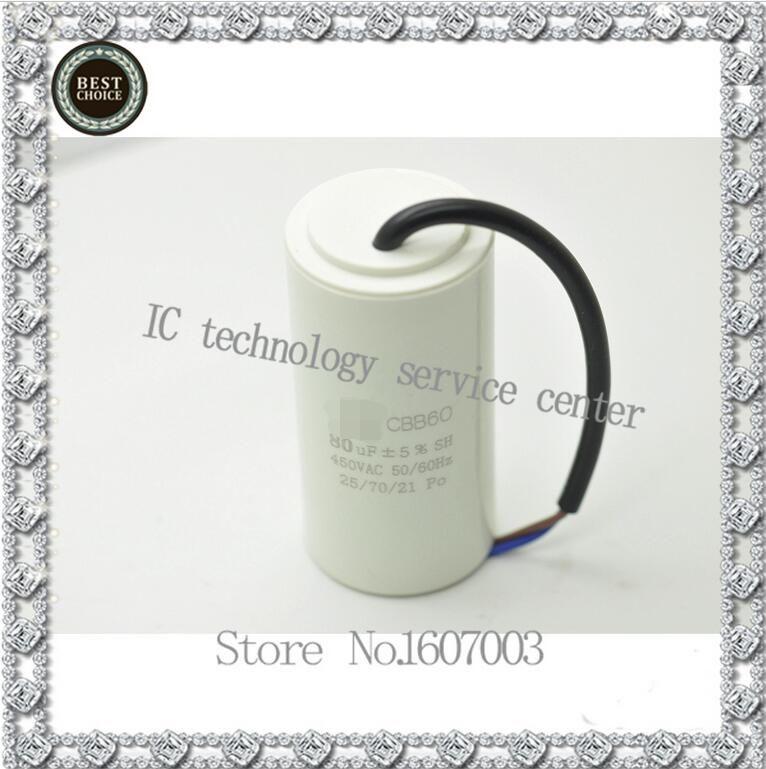 Wholesale Goods Start Capacitor Cbb60 80uf 450vac Volume 50x110mm Water Slurry Capacitfree Shipping