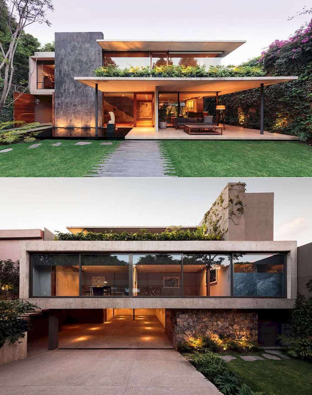 House With Orange Taste Modern Interior Design With Orange Taste In A Comfortable House House Architecture Design Modern Architecture House Modern House Design