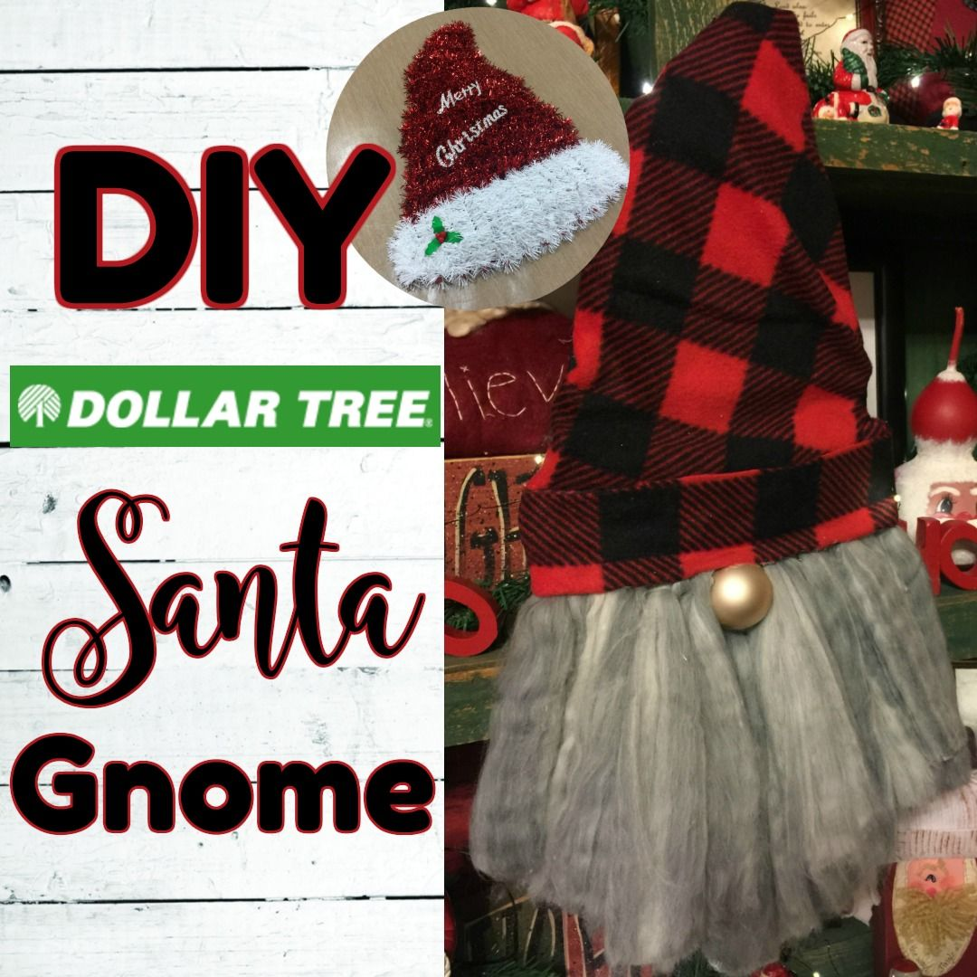 Gnome Santa using Dollar Tree Items ~ {Country Charm} by
