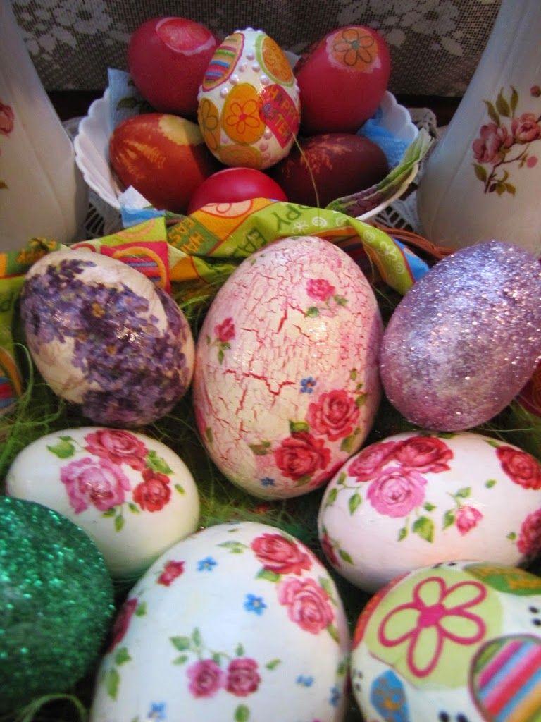 Decoupage Easter eggs: decoration technique 82