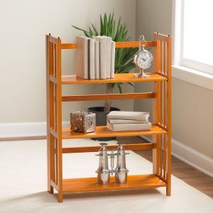 3 Tier Stackable Folding Bookcase