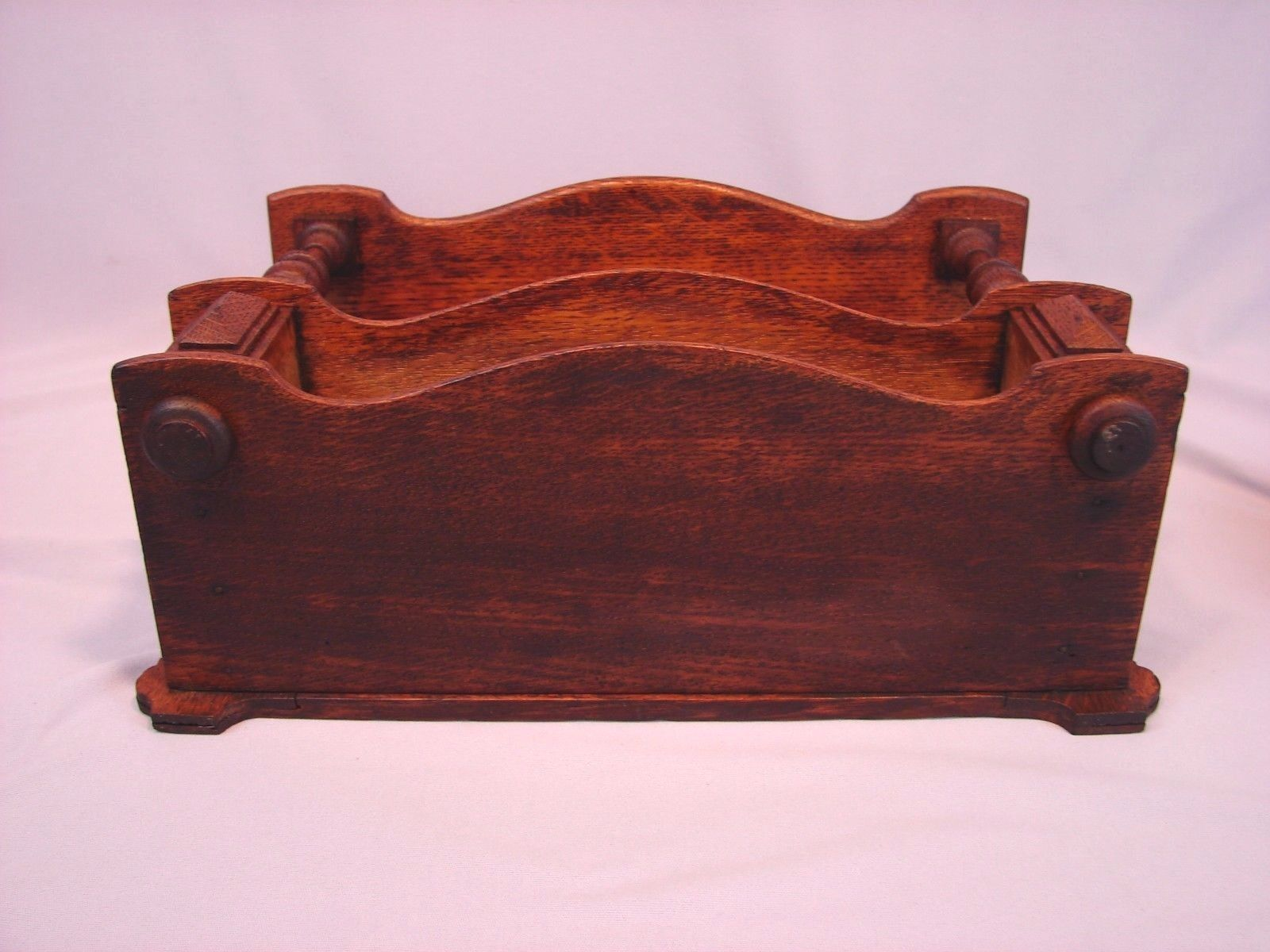 Antique Victorian Petite Wall Hung Oak Curio Cabinet w Good Original Finish | eBay