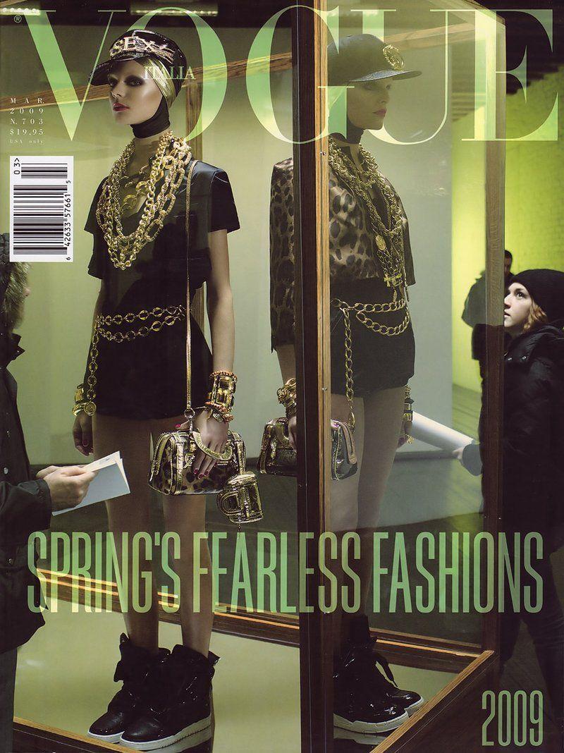 Vogue Italia March 2009 Cover by Steven Meisel (Hanne Gaby Odiele, Kinga Rajzak)