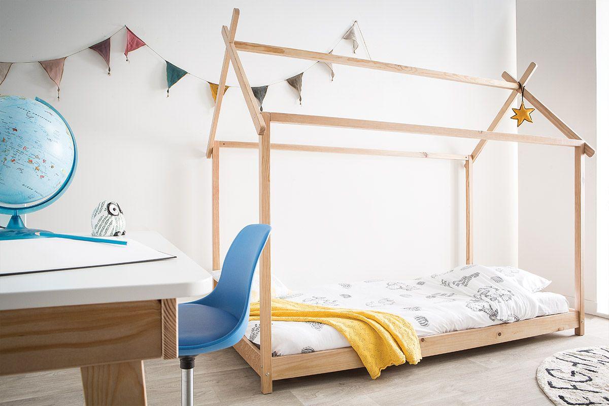 Lit Cabane Enfant Avec Sommier 90 X 200 Cm En Bois Kbane Miliboo Lit Pour Tout Petits Mobilier De Salon Lit Cabane