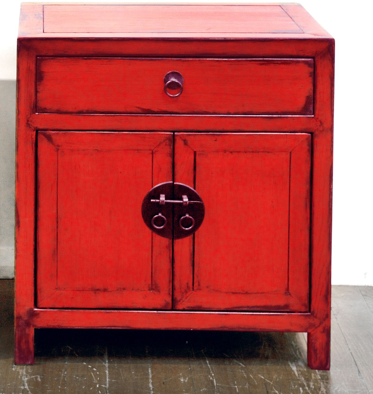 Red Lacquer Side Cabinet   Bed Side Tables If We Get Sick Of The Tiny Ones