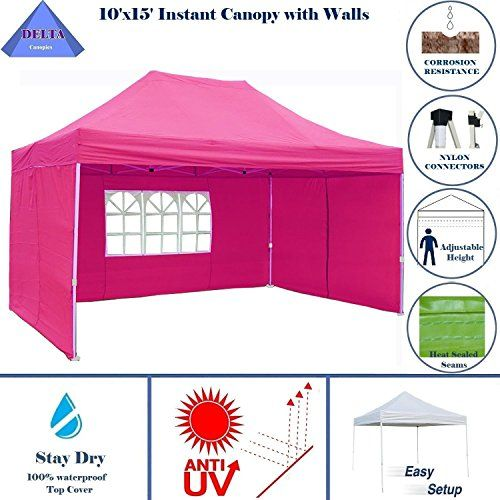 Best Camping Tents 10x15 Ez Pop Up Canopy Party Tent Instant Gazebos 100 Waterproof Top With 4 Removable Side Best Tents For Camping Party Tent Tent Camping