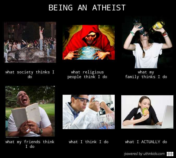 5ab69ae12d28b9433ca9b4194355d886 being an atheist, what people think i do, what i really do meme