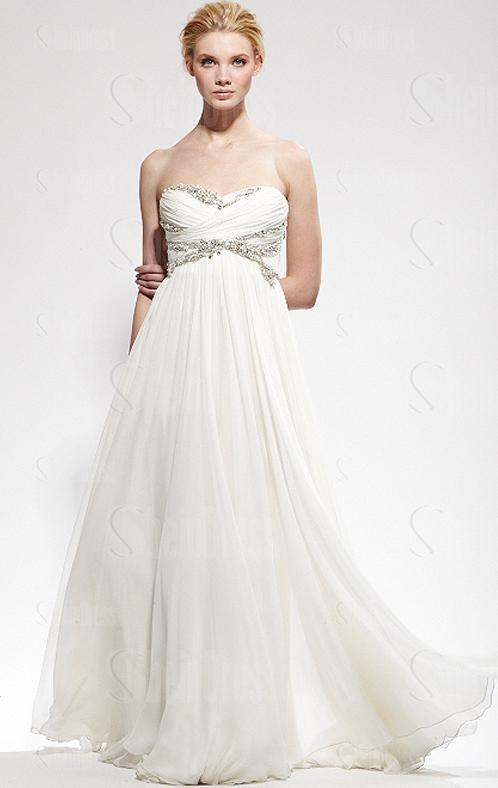 Cheap A-Line Vintage Beach Long Wedding Dress HSNAL0170-SheinDressAU ...
