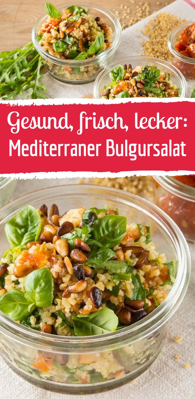Schneller Rezept für mediterranen Bulgursalat #vegetariangrilling