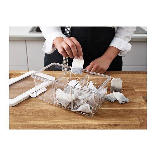 КРУС Контейнер+крышка д\/сухих продуктов, прозрачный, белый - ikea küchen angebote