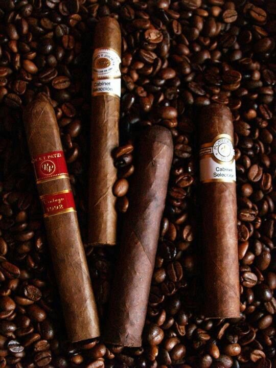 Coffee and cigars is my combo I choice until I can drink Scotch.