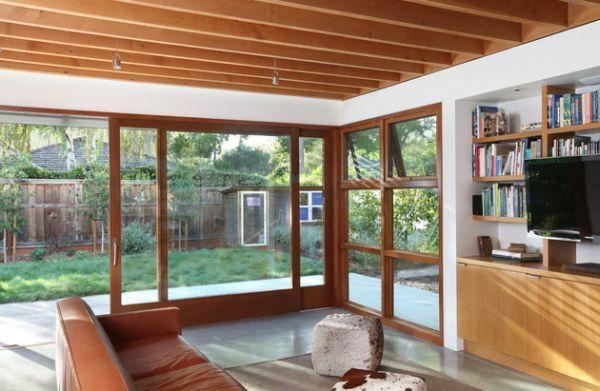La porte coulissante vitrée- la peinture est la nature Doors - peinture porte et fenetre