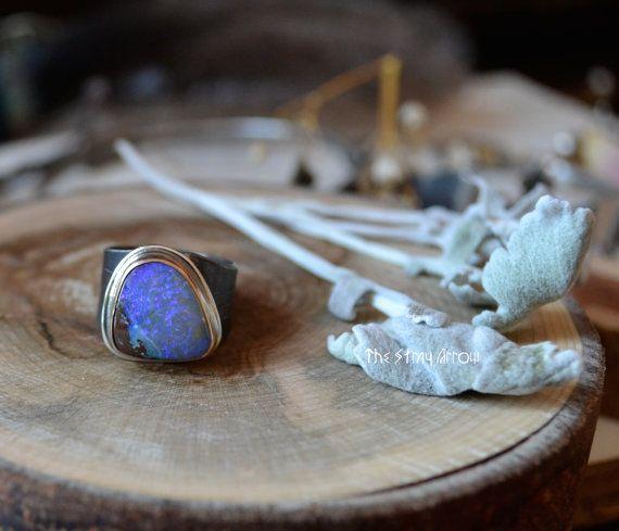 Koroit Opal Weaver Ring by TheStrayArrow on Etsy, $168.00