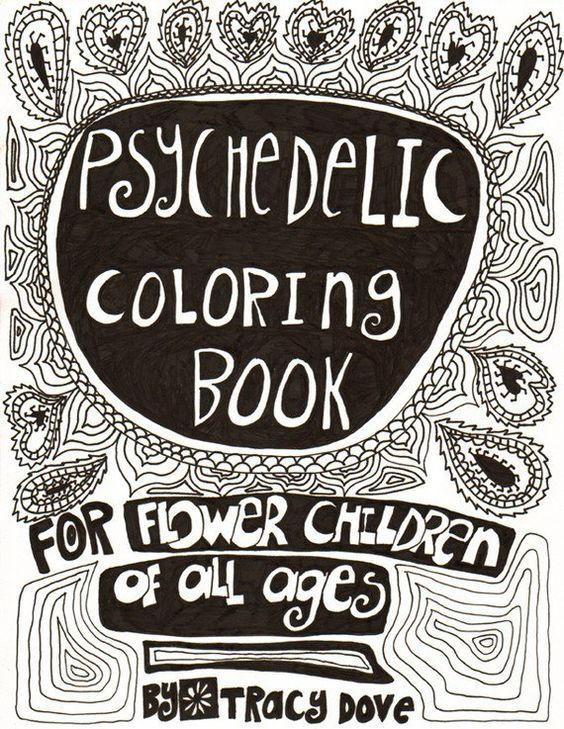 Psychedelic coloring book: | psychedelic | Pinterest | Psychedelic ...