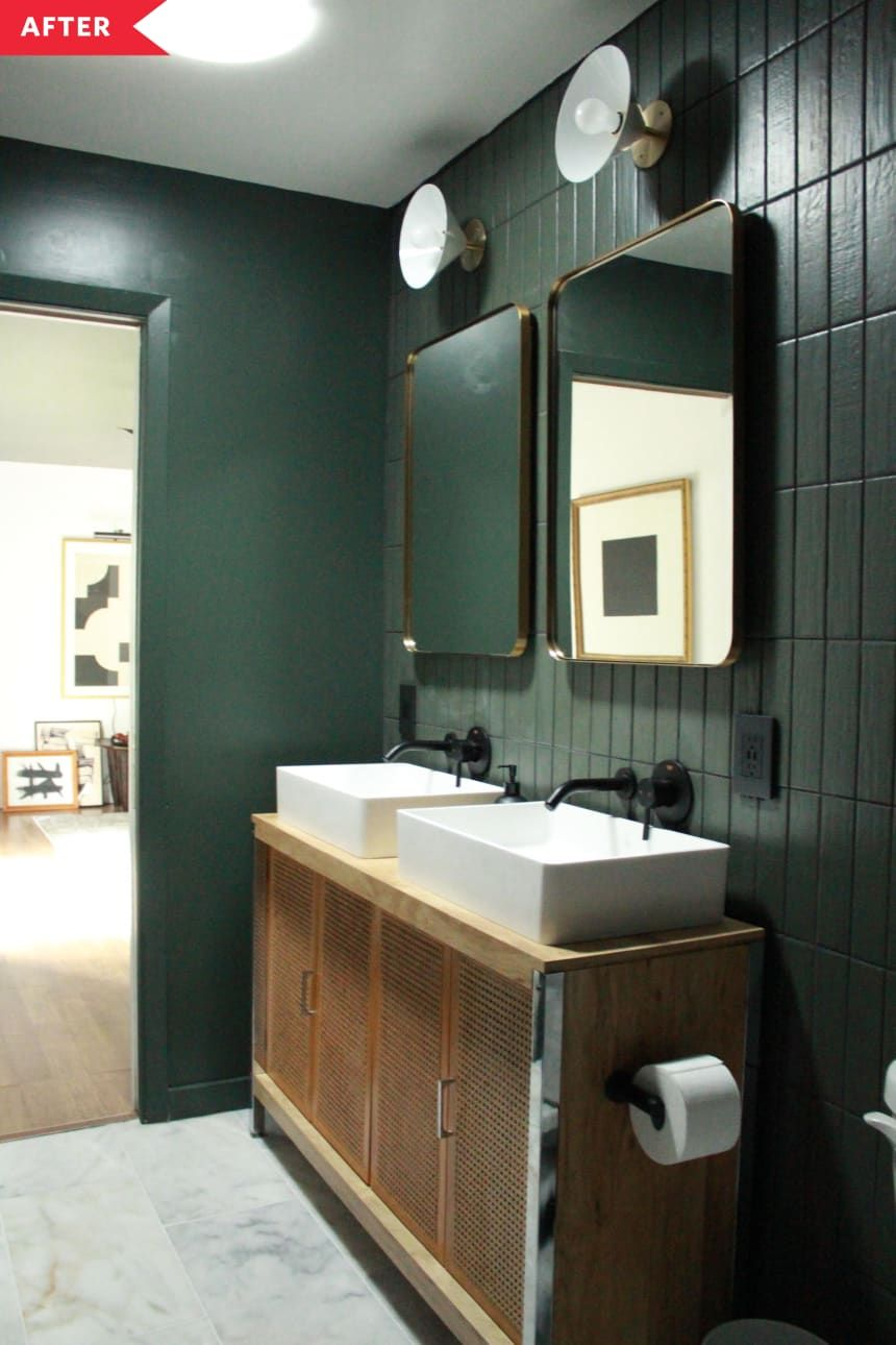 Photo of Before and After: A Dark Bathroom Redo That Looks Ultra High-End